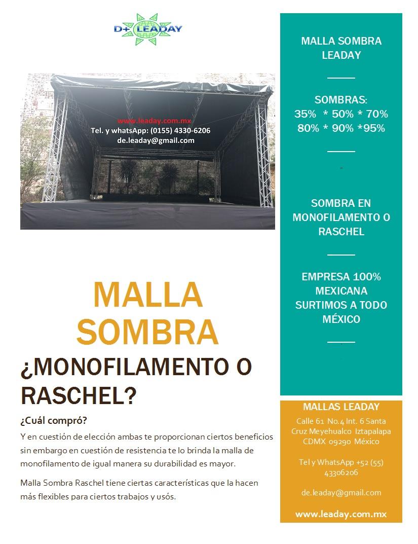 Malla Sombra Raschel y Monofilamento